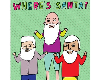 Christmas Cards - Where's Santa?