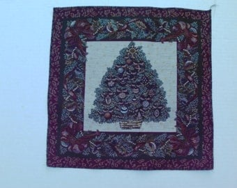 Tapestry Fabric Panel Christmas Tree for Pillow Cushion Tote Bag