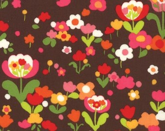 Oops A Daisy 1 & 1/2 Yard Remnant 32485-14 Brown