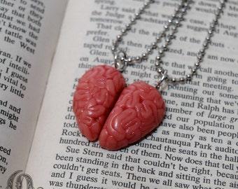 Anatomical Brain Best Friends Necklaces