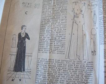Montgomery Wards 1930's Pattern -