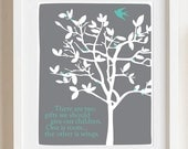 Roots and Wings custom color print - 8x10