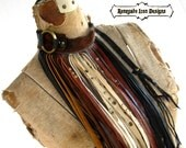 Extravagant fringe necklace, warrior fringe, edgy, :Renegade icon designs