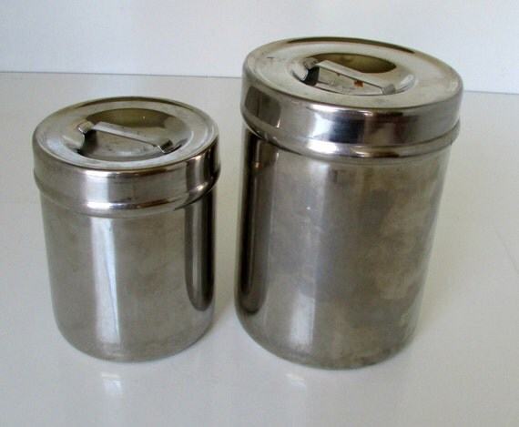 industrial stainless steel canisters set of 2 round vollrath. Black Bedroom Furniture Sets. Home Design Ideas