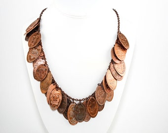 Custom Made Pressed Penny Necklace - Let Me Turn Your Souvenir Penny Collection into a Beautiful Statement Necklace - Birthday Gift Idea