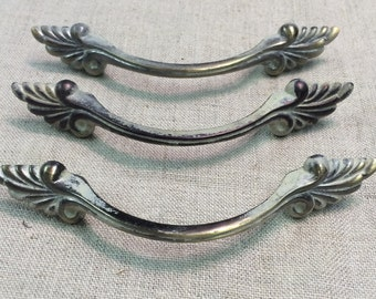 French Provincial Drawer Handles, Set of 3 Matched, Free Shipping!