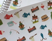 Huge Sale Planner Stickers Gone Fishing Set Life Planner Plum Paper Planner