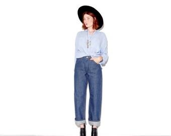 HURRY HALF OFF Vintage Nos Deadstock 1960s Wranglers / high waisted jeans western collectible rare denim 14 oz Salt & Pepper Denim boyfriend