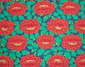 Kaffe Fassett, Frilly, Orange, Rowan Westminster, Designer Cotton Quilt Fabric, Floral Fabric, Quilting Fabric