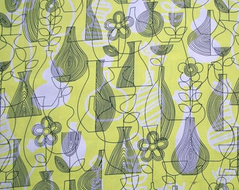 SALE - Astrid, Lena, Chartreuse, Yellow and Black, Erin McMorris, Free Spirit Fabrics, 100% Cotton Quilt Fabric, Quilting Fabric