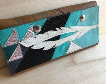 Feather checkbook billfold