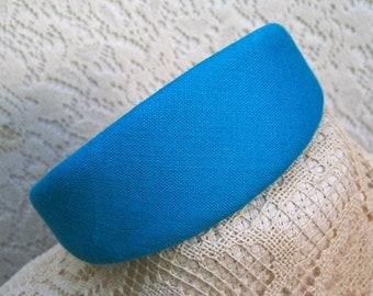 Big Headband turquoise linen