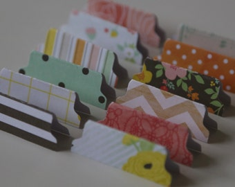 Page Tabs - Mint Chip Set of 12