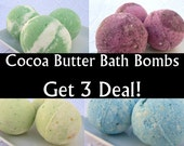 3pc bath bomb deal, Cocoa butter bath fizzy, choose favorite fragrance, save on price AND shipping