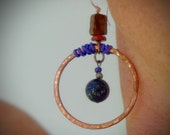 Hunter Moon Earring with Lapis and Copper