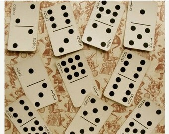 20PercentOff 5 Stunning Antique Rare Domino Cards from the 1800s