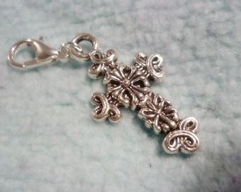 Celtic Cross Silver Clip,Locket charm,Add a charm