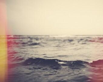 Revival - Original Photograph by Tina Crespo - waves, black and white, sepia, light leak, color, ocean, charleston