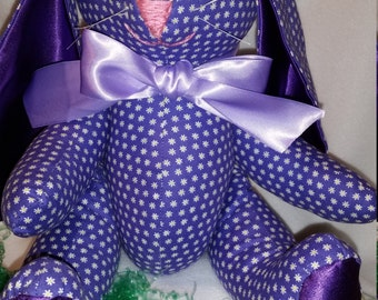 The Very Purple Bunny - Plush Stuffed