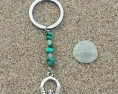 ON SALE Claddagh, Gemstone Keychains, Malachite, Green Aventurine, Celtic Keychain, Key Fob