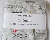 ON SALE Red Black Grey El Gallo Charm Pack Fabric - Moda - Deb Strain