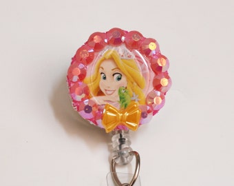 Disney's Rapunzel And Pascale ID Badge Reel - Retractable ID Badge Holder - Zipperedheart