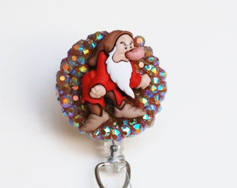 Grumpy From Snow White And The Seven Dwarfs ID Badge Reel - Retractable ID Badge Holder - Zipperedheart