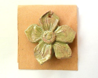 Desert Grass Stoneware Glazed Flower Blossom Finding in Kiln Fired Clay