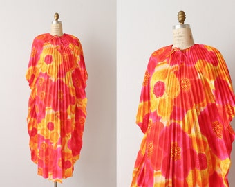 Vintage 1970s Caftan Dress / Muu Muu Dress / Boho Dress