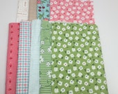 SUMMER Sale - Fat Eighths (9) - mixed collection bundle - by Lori Holt for Riley Blake Designs