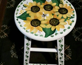 Sunflower bar or counter stools