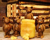 Primitive Bears & Honey Jar Scented Beeswax Melts, Pick A Scent, Scented Wax Melts Scented Wax Tarts Cabin Decor Scented Melts Scented Tarts
