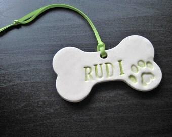 Personalized Dog Bone  Ornament