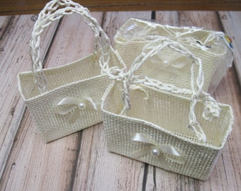 Wicker Favor Baskets Set of 3