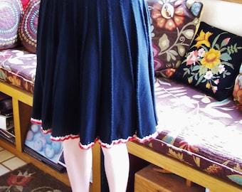 SALE, Vintage skirt, Black skirt, Black Knit skirt, Vintage black skirt, size M