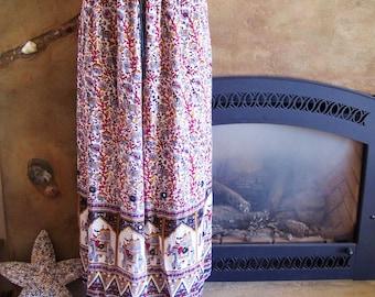 Plus size, Skirt, Elephant skirt, Drawstring skirt, Tribal skirt, Gypsy skirt, Boho skirt, Animal skirt, India, size osfm