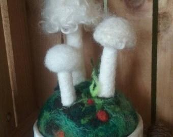 White Mushroom Pot