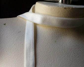 2 yds. Bra Elastic in IVORY for Straps, Headbands, Lingerie, Garter or Costume Design  STR