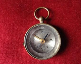 Brass compass pendant