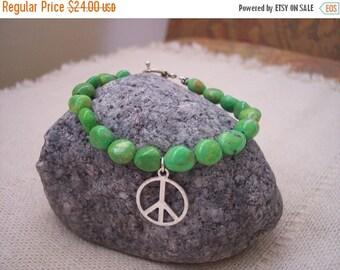 ON SALE Peace is Green Bracelet....