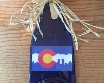 Colorado Wine Bottle Cheese Board