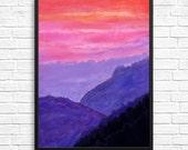 Mountains - 11x14 print