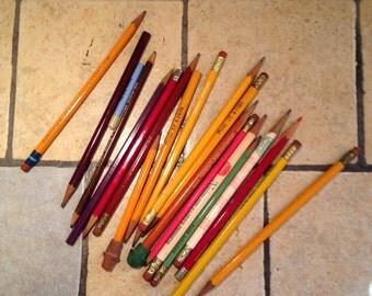 Antique Wooden Case Pencils (7)