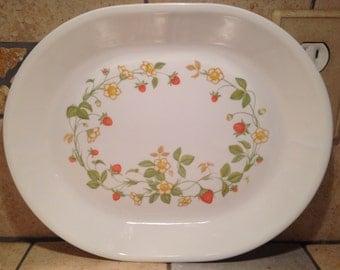 Strawberry Sundae Platter by Corelle
