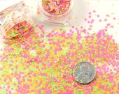Glitter - 2mm Bright Neon Pink Tiny Matte Glitter Flakes - Mix Loose Glitter, Paliette or Sequins - Solvent Resistant - Set of Two 3g Jars