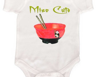 Funny Girl Bodysuit Miso Cute Asian Girl Tee Baby Rompers Newborn Creepers to Girly Tees Baby GIrl One Piece