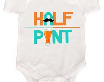 Baby Boy Bodysuit Half Pint Infant Tees and Toddler Tshirts by Mumsy Goose Newborn Creepers Craft Beer Baby
