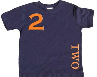 2nd Birthday T shirt Boys Second Birthday Shirt by Mumsy Goose  Two Shirts Any Age Birthday Shirt