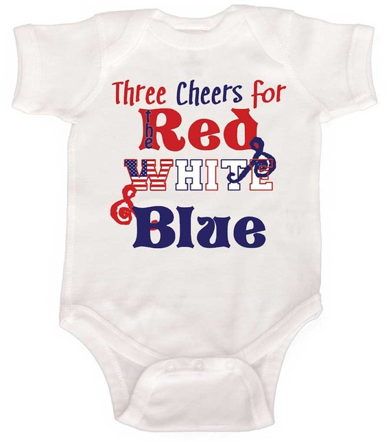 4th of July Bodysuit Patriotic Baby rompers by Mumsy Goose Newborn Romper to Kids Tees Americana