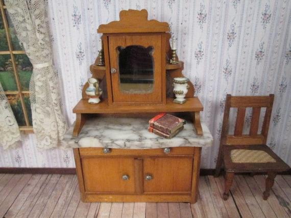 Reduced antique dollhouse furniture schneegas golden oak for Reduced furniture